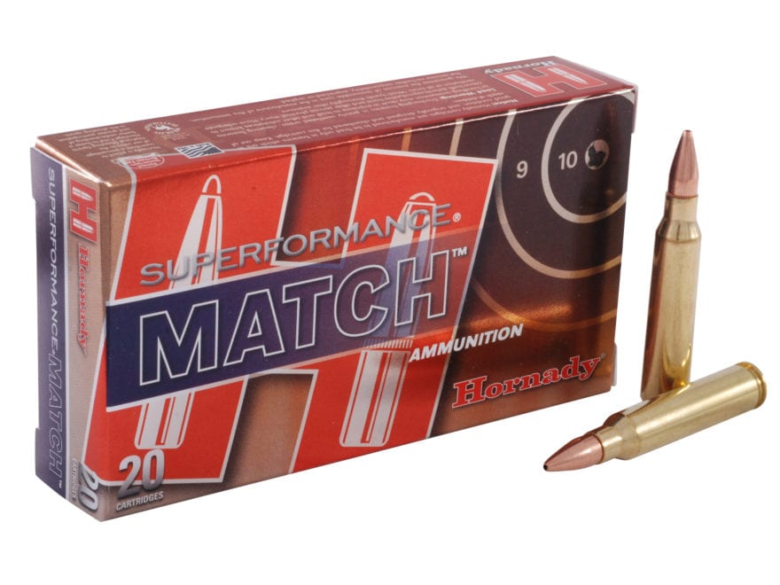 Hornady Superformance Match Ammunition 5.56x45mm NATO 75 Grain Hollow Point Boat Tail M...