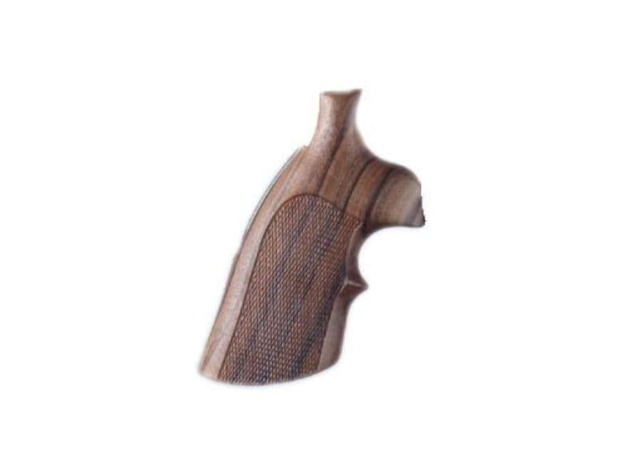 Hogue Fancy Hardwood Grips with Top Finger Groove Ruger GP100, Super Redhawk Checkered