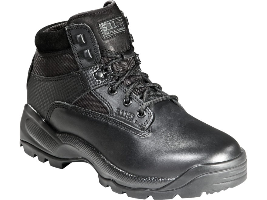 """5.11 ATAC 6"""" Tactical Boots Leather/Nylon Side Zip Black Women's"""