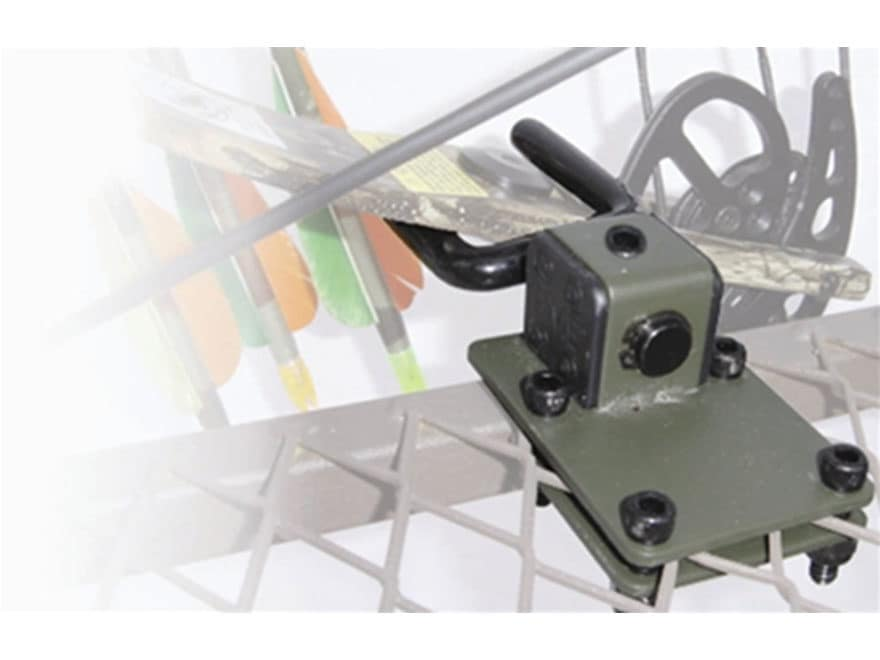 HME Treestand Platform Bow Holder Mount Steel Olive