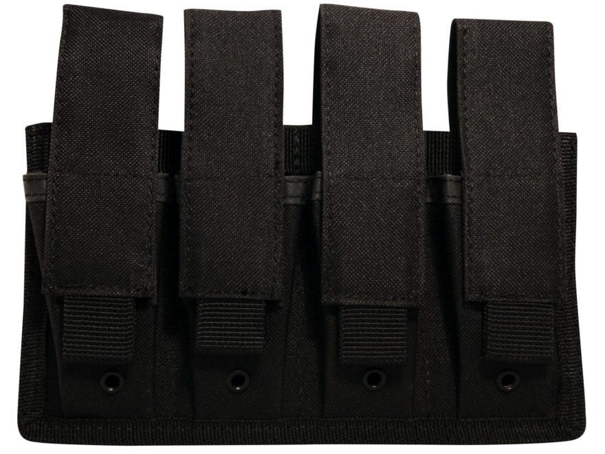 MidwayUSA MOLLE Four Pistol Magazine Pouch Black
