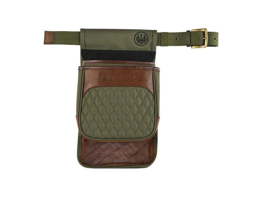Beretta B1 Signature Hull Pouch with Belt Canvas/Leather Loden Green/Brown
