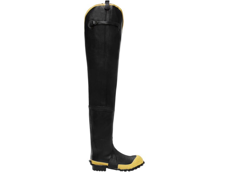 "LaCrosse Storm 31"" Waterproof Insulated Steel Toe Hip Boots Rubber Black Men's"