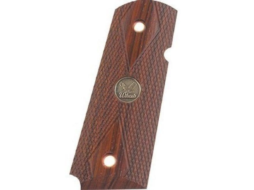Wilson Combat Grips 1911 Officer Double Diamond Checkered Cocobolo