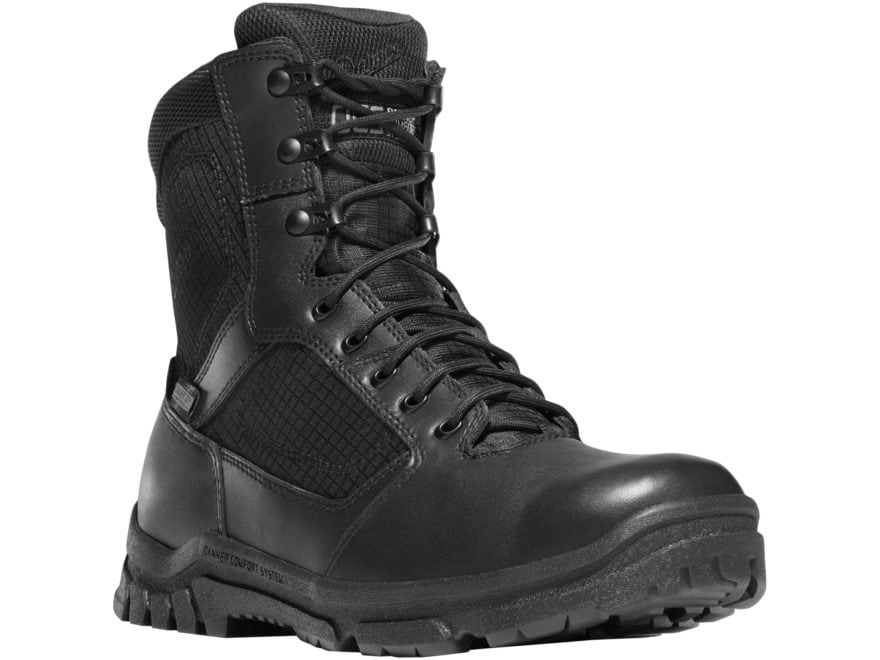 """Danner Lookout 8"""" Waterproof Side-Zip Tactical Boots Leather/Nylon Men's"""