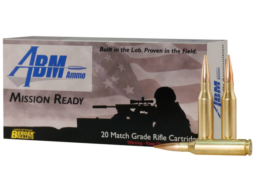 ABM Mission Ready-Tactical Ammunition 260 Remington 130 Grain Berger Match AR Hybrid OT...