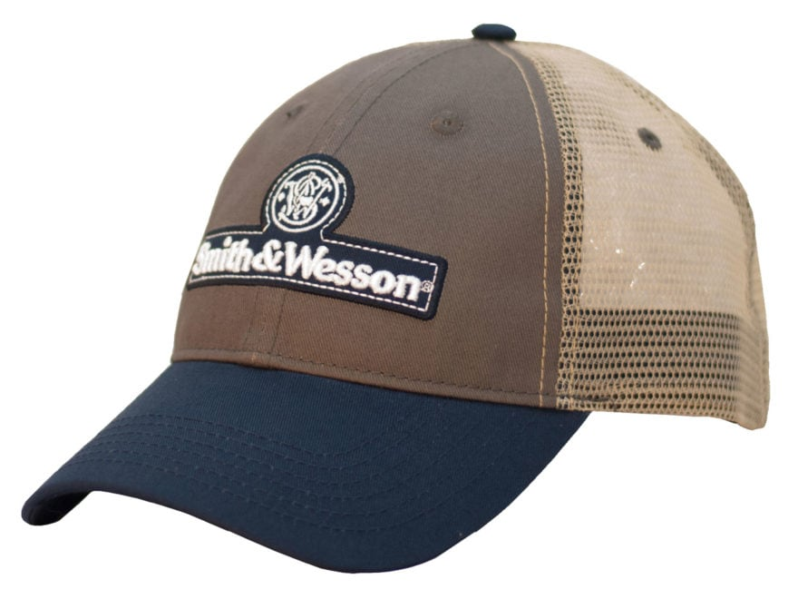 Smith & Wesson Tri-Color Mesh Back Logo Cap Gray/Blue/White