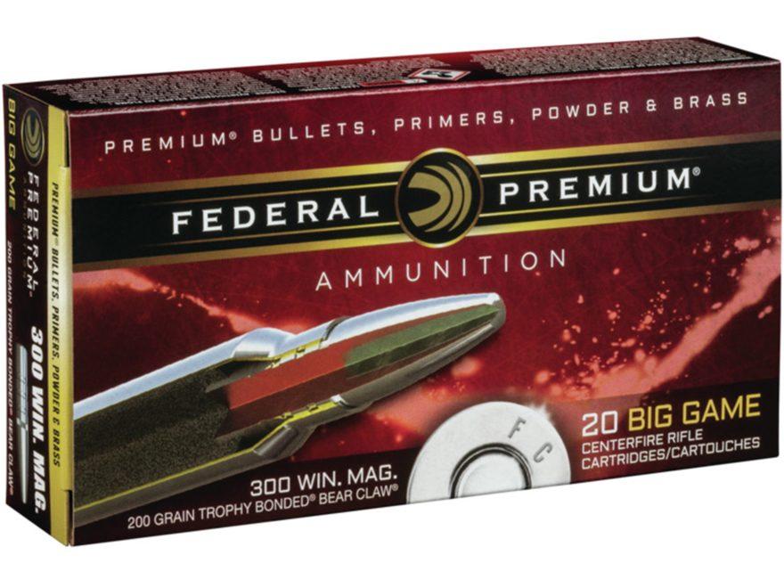 Federal Premium Vital-Shok Ammunition 300 Winchester Magnum 200 Grain Trophy Bonded Bea...