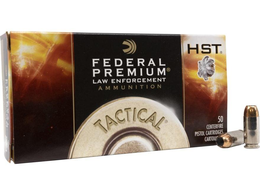 Federal Premium Law Enforcement Ammunition 40 S&W 180 Grain HST Jacketed Hollow Point B...