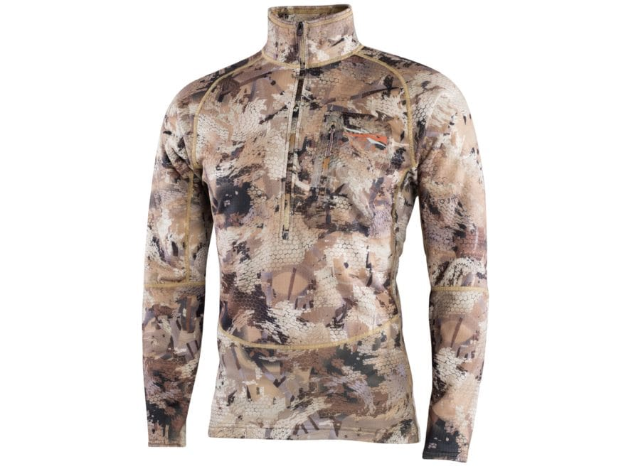 Sitka Gear Men's Grinder 1/2 Zip Shirt Long Sleeve Polyester