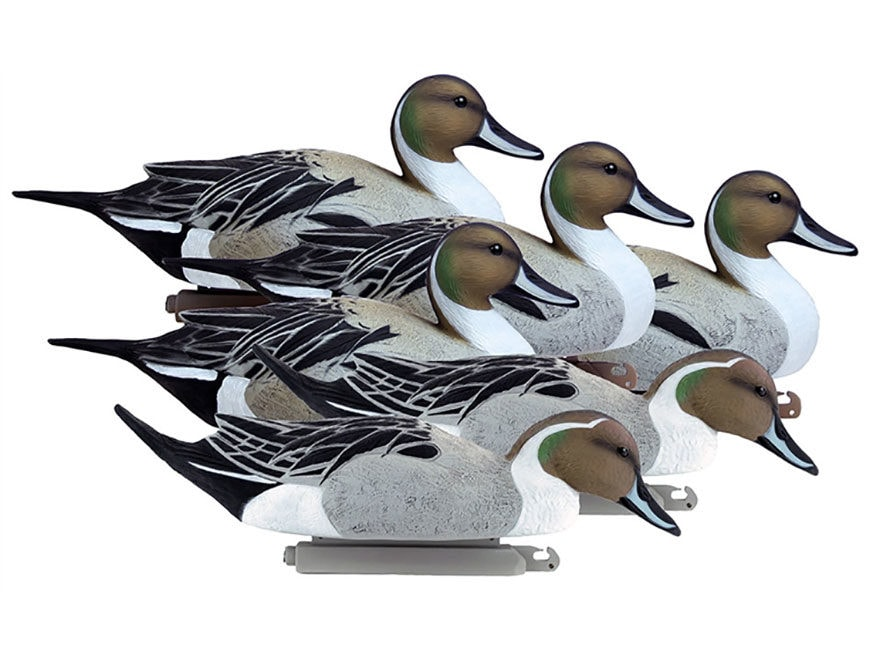 Higdon Battleship Foam Filled Pintail Drakes Only Duck Decoy Polymer Pack of 6
