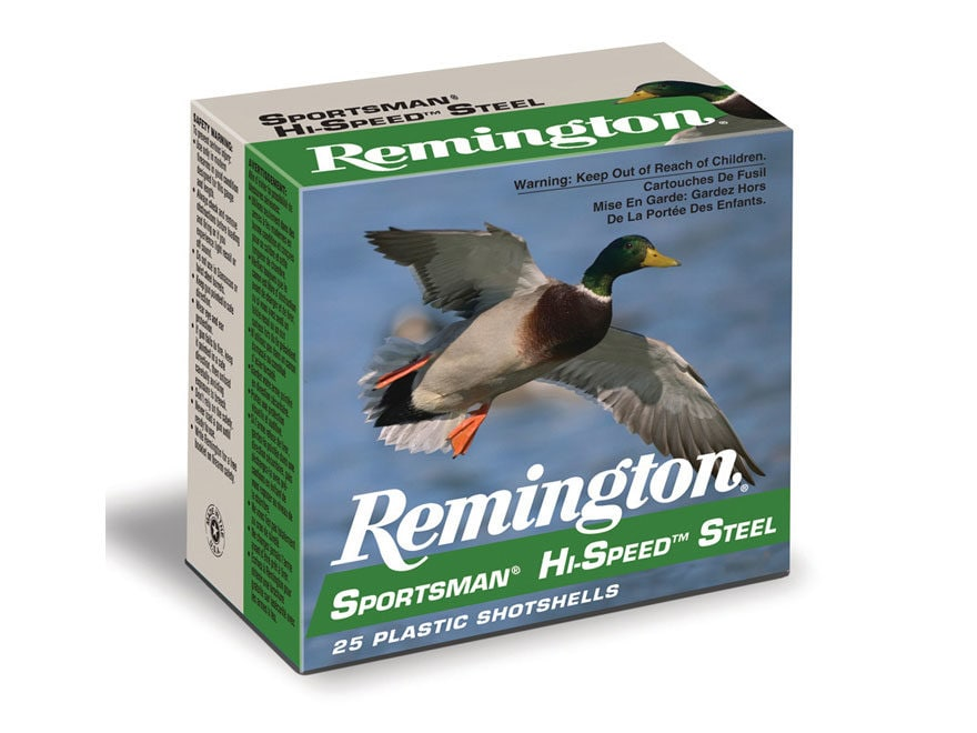 "Remington Sportsman Hi-Speed Ammunition 12 Gauge 3"" 1-1/4 oz  #1 Non-Toxic Steel Shot"