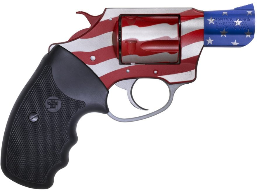 "Charter Arms 23872 Old Glory Revolver 38 Special 2"" Barrel 5-Round Red/White/Blue and B..."