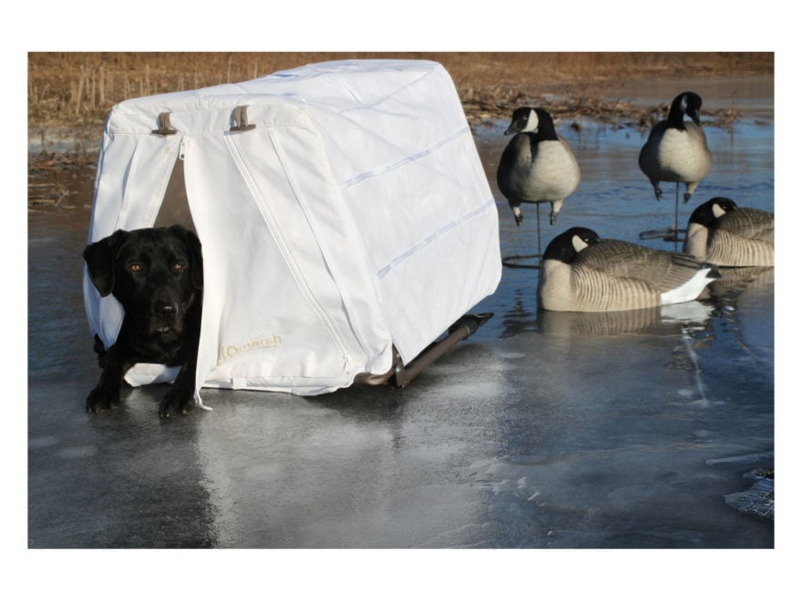 MOMarsh InvisiLAB Elevated Dog Blind Snow Cover