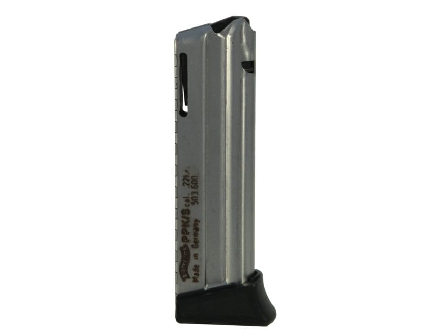 Walther Magazine PPK/S 22 Long Rifle 10-Round Steel Nickel Plated
