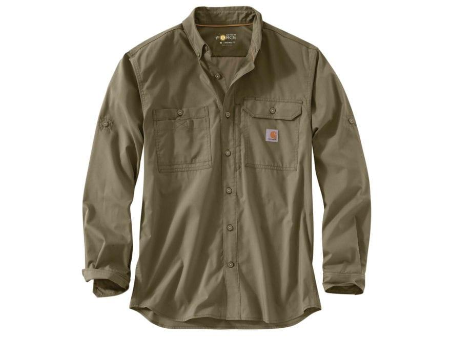 Carhartt Men's Force Ridgefield Button-Up Shirt Long Sleeve Polyester/Cotton