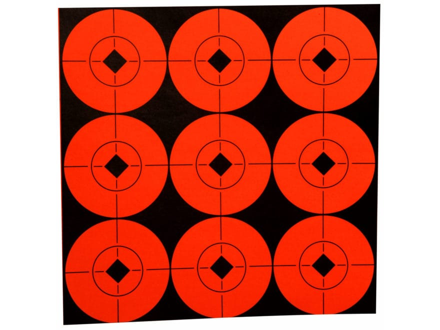 """Birchwood Casey Target Spots 2"""" Fluorescent Red Pack of 90"""