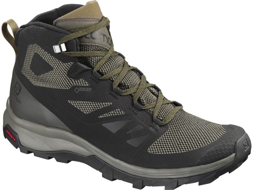 "Salomon Outline Mid GTX 5"" Hiking Boots Synthetic Men's"