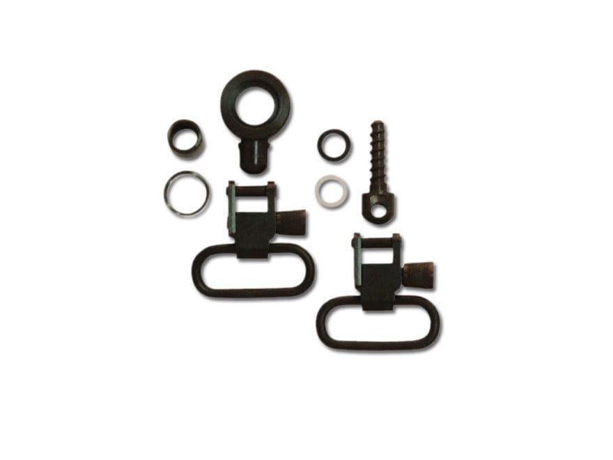 "GrovTec Sling Swivel Set Browning BLR Sling Swivel Studs 1"" Locking Swivels Steel Black"