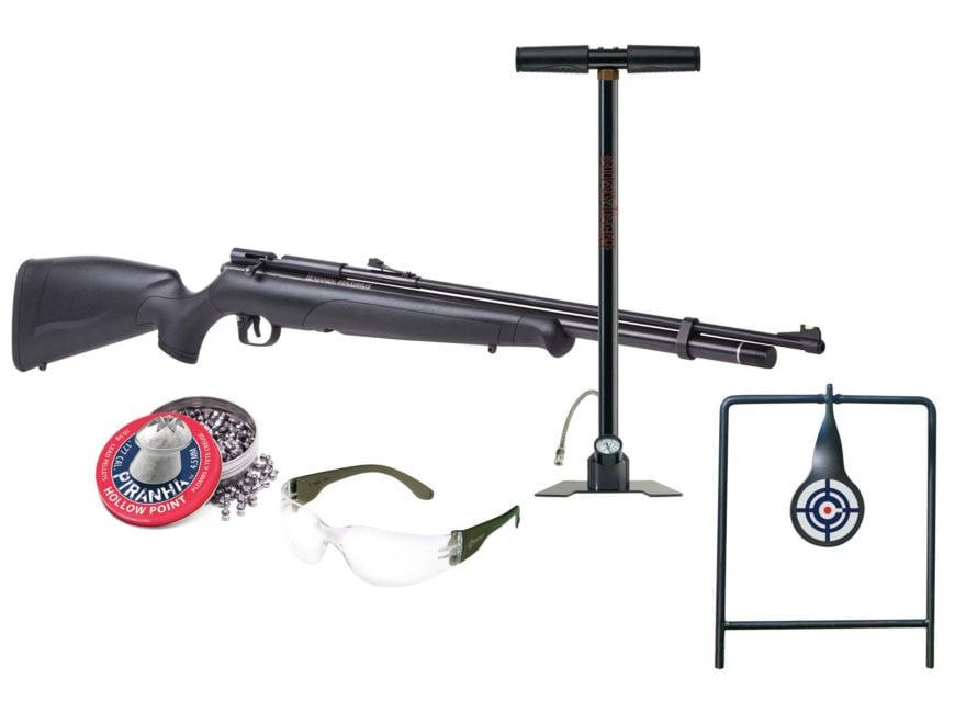 Benjamin Maximus Kit PCP Air Rifle 22 Caliber Pellet Black Synthetic Stock with Hand Pu...