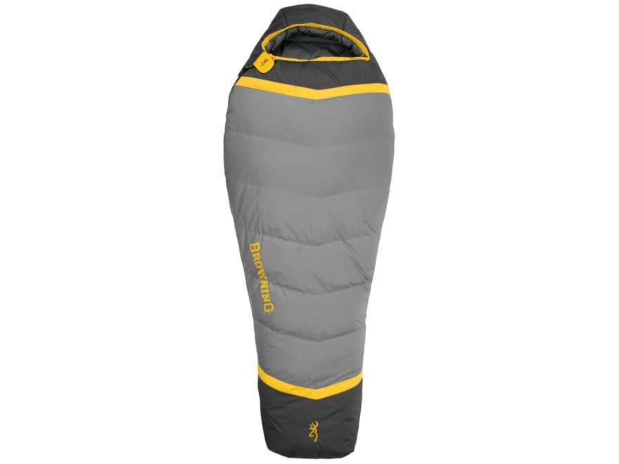 Browning Vortex Mummy Sleeping Bag Polyester Gold/Coal