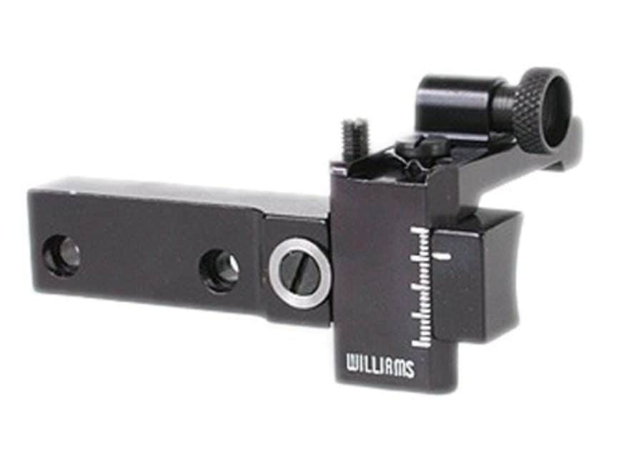 Williams 5D-510 Receiver Peep Sight Remington 510, 511, 512, 513, 521T Aluminum Black