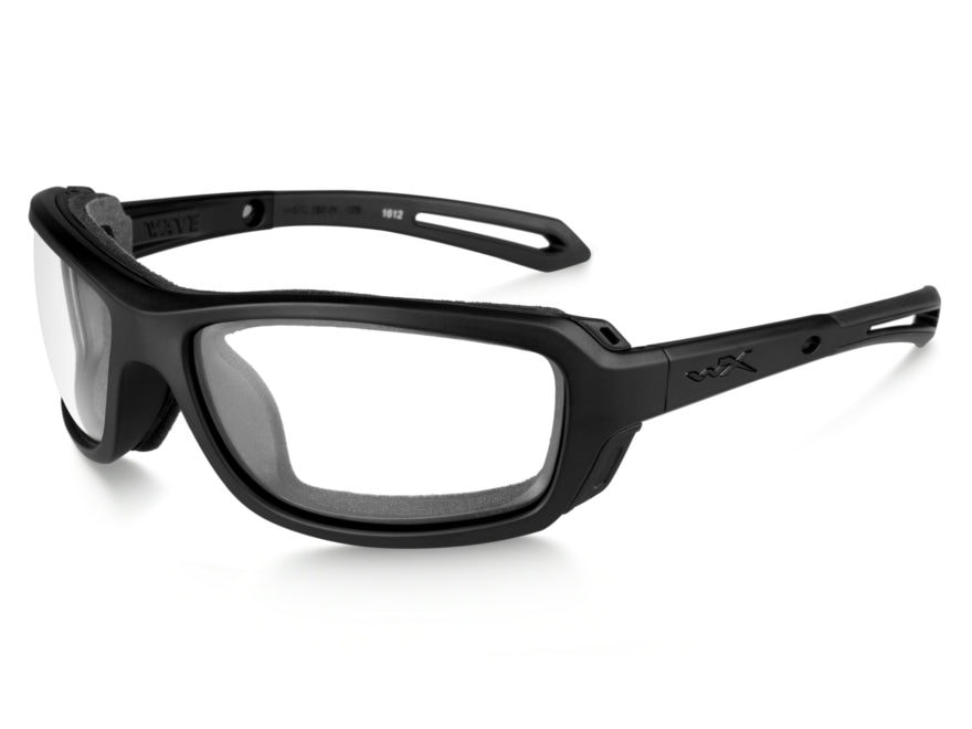 7edea17239b9 Wiley X WX Wave Sunglasses Matte Black Frame/Clear Lens
