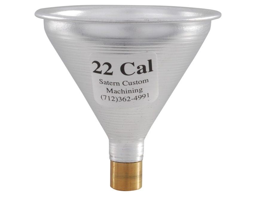 Satern Powder Funnel 22 Caliber Aluminum and Brass