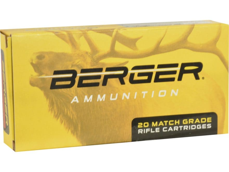 Berger Match Grade Ammunition 338 Lapua Magnum 250 Grain Elite Hunter Box of 20