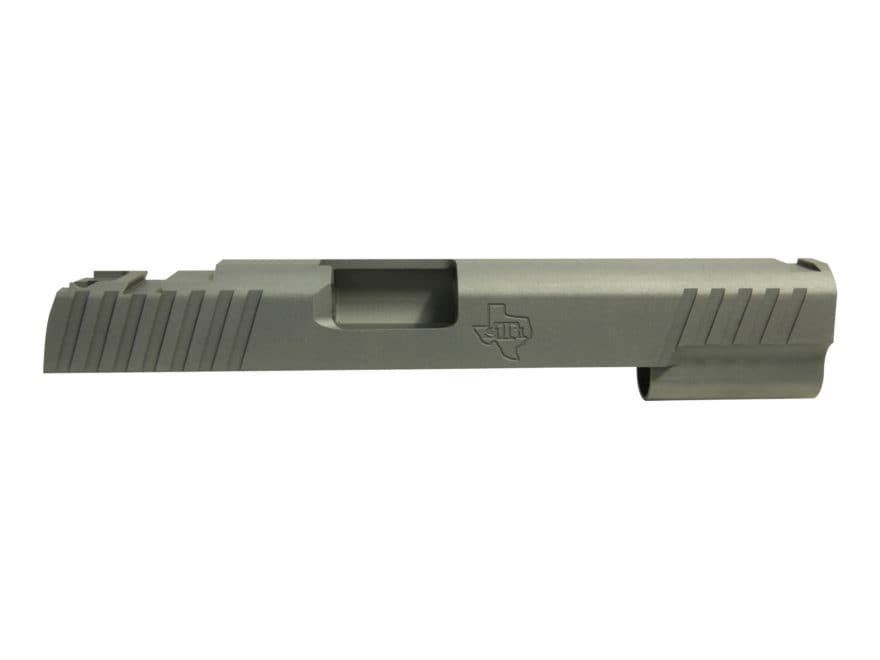 STI Trojan Slide 1911 Government 40 S&W, 10mm STI Front Sight Cut and LPA Rear Cut Stee...