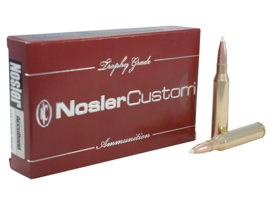Nosler Trophy Grade Ammunition 338 Lapua Magnum 300 Grain AccuBond Box of 20