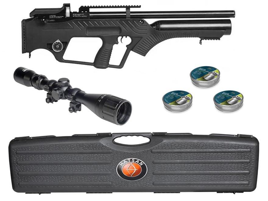 Hatsan BullMaster Semi-Auto PCP 25 Caliber Pellet Air Rifle Combo