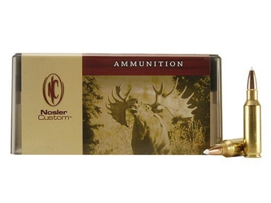 Nosler Custom Ammunition 300 Remington Short Action Ultra Magnum 180 Grain AccuBond Spi...