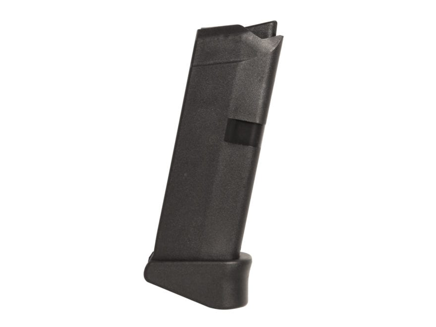 Glock Magazine Glock 42 with Extension 380 ACP 6-Round Polymer Black