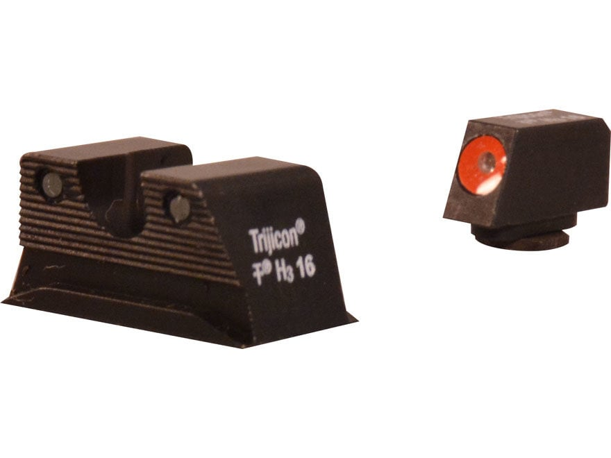 Trijicon HD Night Sight Set Walther PPS, PPX Steel Matte 3-Dot Tritium Green with Front...
