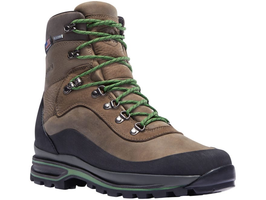 """Danner Crag Rat USA 7"""" GORE-TEX Hiking Boots Leather Brown/Green Men's"""