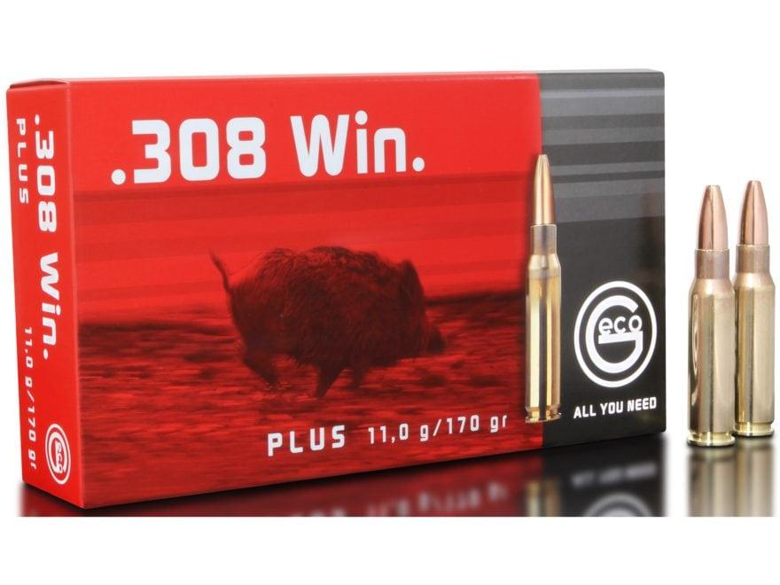 Geco Plus Ammunition 308 Winchester 170 Grain Bonded Hollow Point Box of 20