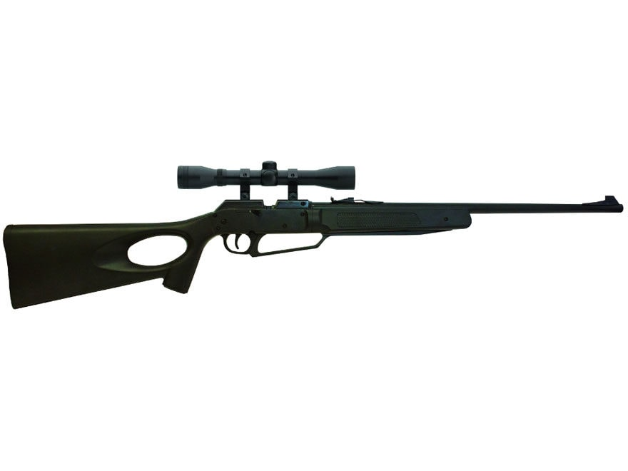 Winchester 1977XS Pump Air Rifle 177 Caliber BB and Pellet Polymer Black Stock Blue Bar...