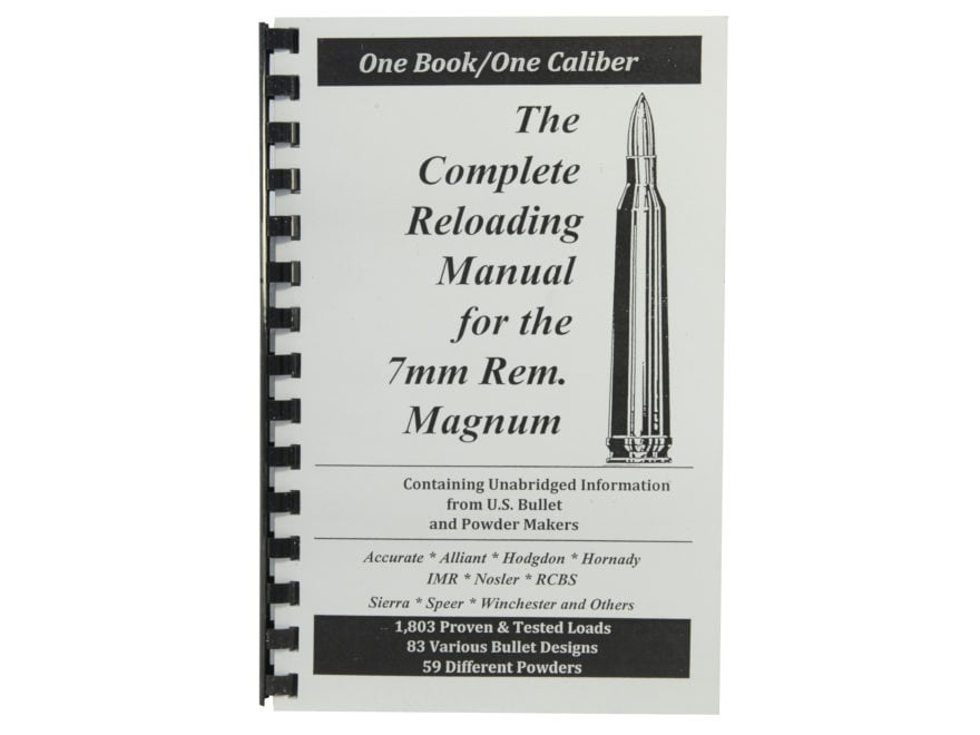 "Loadbooks USA ""7mm Remington Magnum"" Reloading Manual"