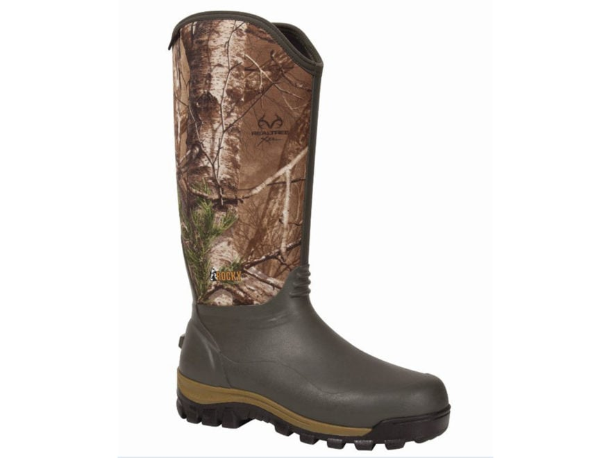 "Rocky Core 16"" Hunting Boots Neoprene and Rubber Realtree Xtra Camo Men's"