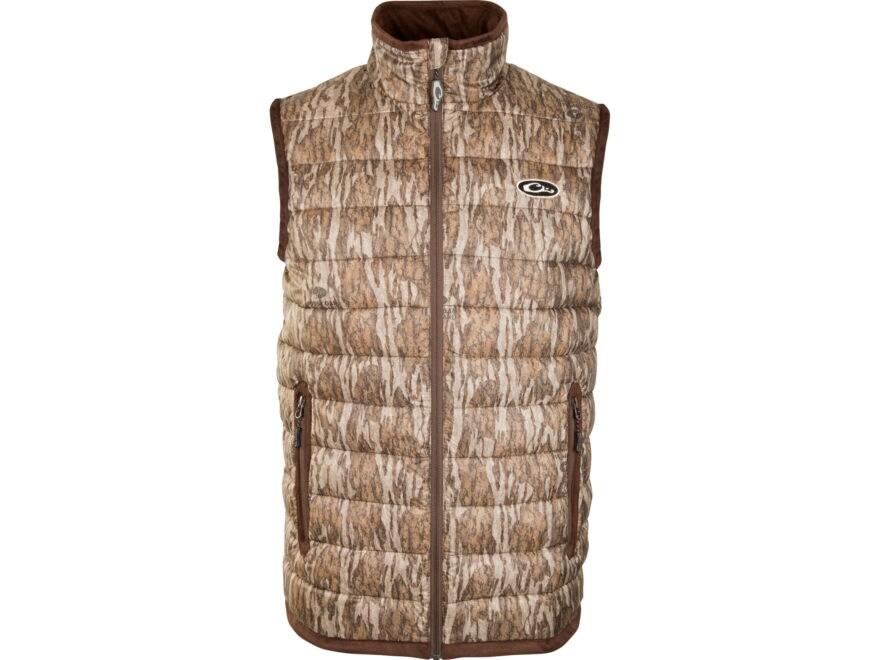 Drake Men's Camo Double Down Endurance Layering Vest Polyester
