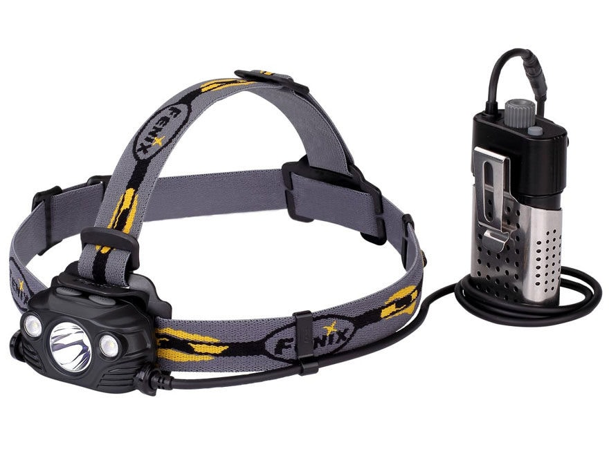 Fenix HP30R Headlamp LED with 2 USB Rechargeable 18650 Li-ion Batteries Aluminum Black