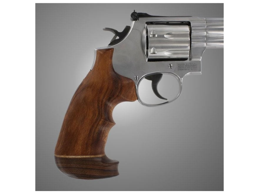 Hogue Fancy Hardwood Grips with Accent Stripe and Top Finger Groove Colt Python Oversize