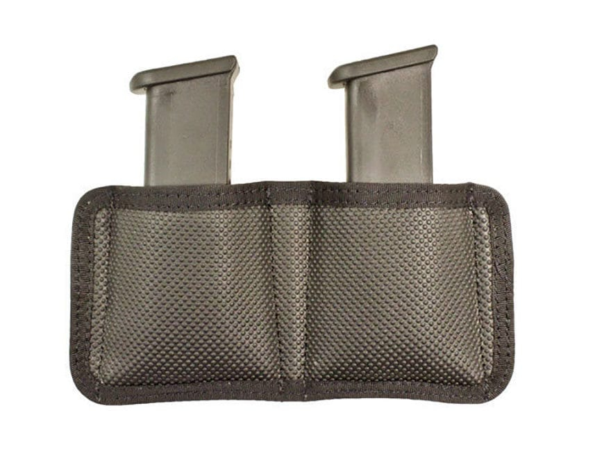 DeSantis Nemesis Double Magazine Pouch Single Stack 9mm, 40S&W, Glock 42, 43 Nylon Black