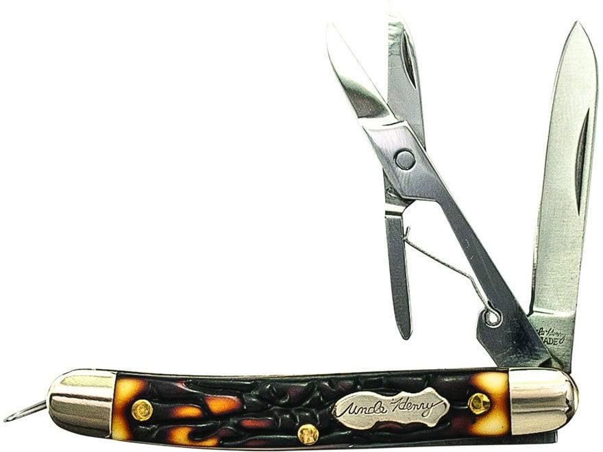 "Uncle Henry Gambler Folding Pocket Knife 1.7"" Pen 7Cr17MoV High Carbon Stainless Steel ..."