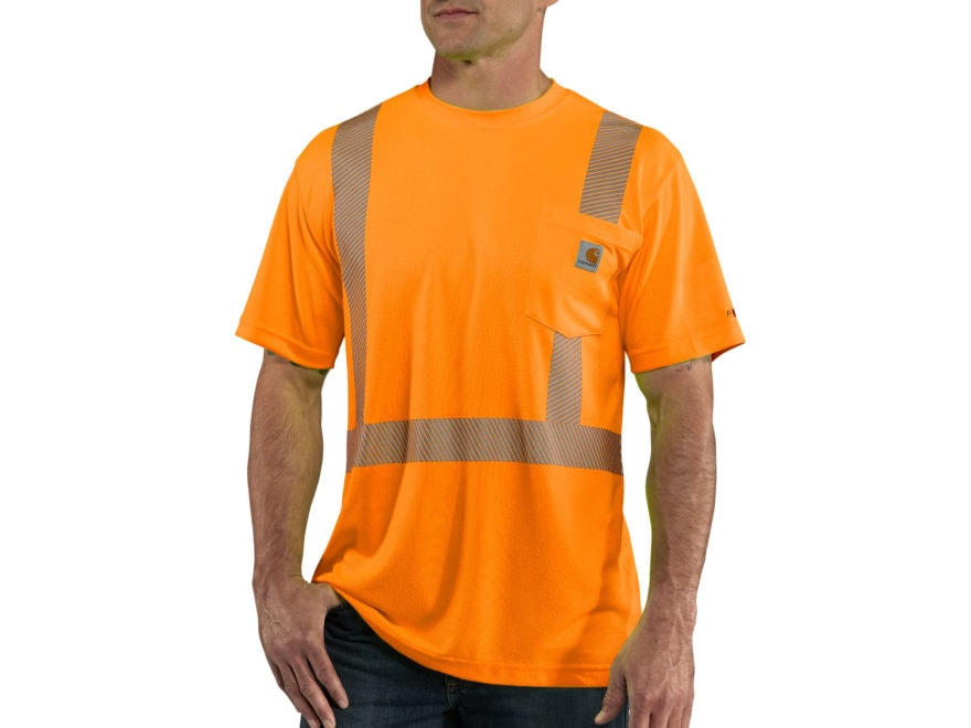 Carhartt Men's Force High Visibility Class 2 T-Shirt Short Sleeve Polyester