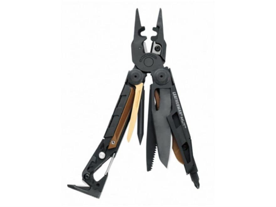 Leatherman MUT EOD Multi-Tool Black Oxide Handle with Black Oxide Pliers and Blade
