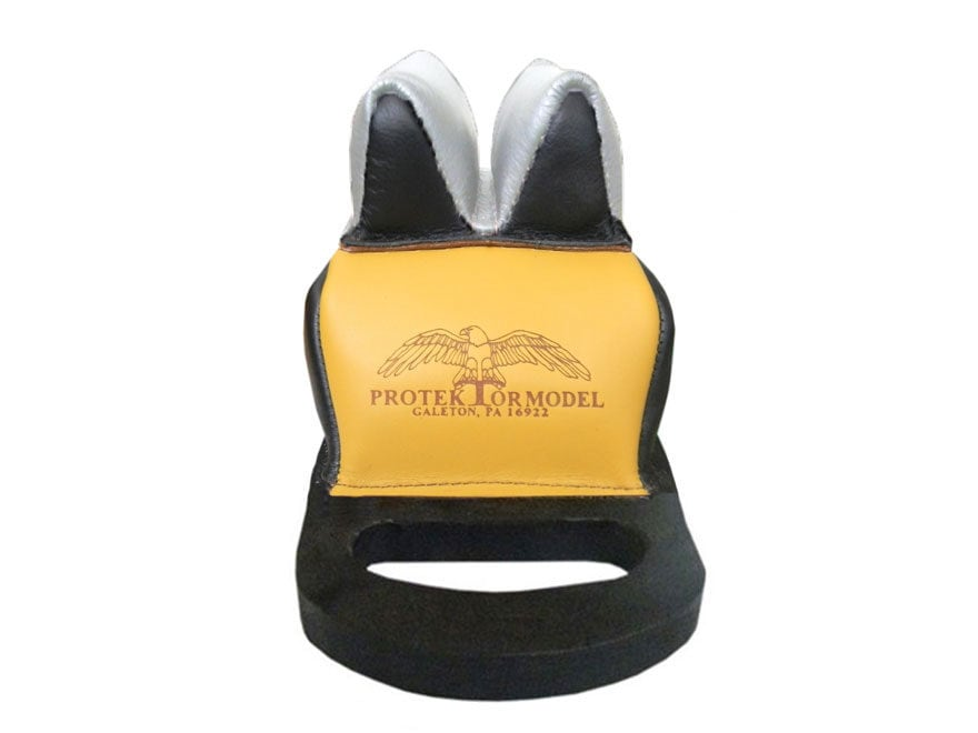 Protektor Deluxe Bumble Bee Double Stitched Super Slick Silver Rabbit Ear Rear Shooting...