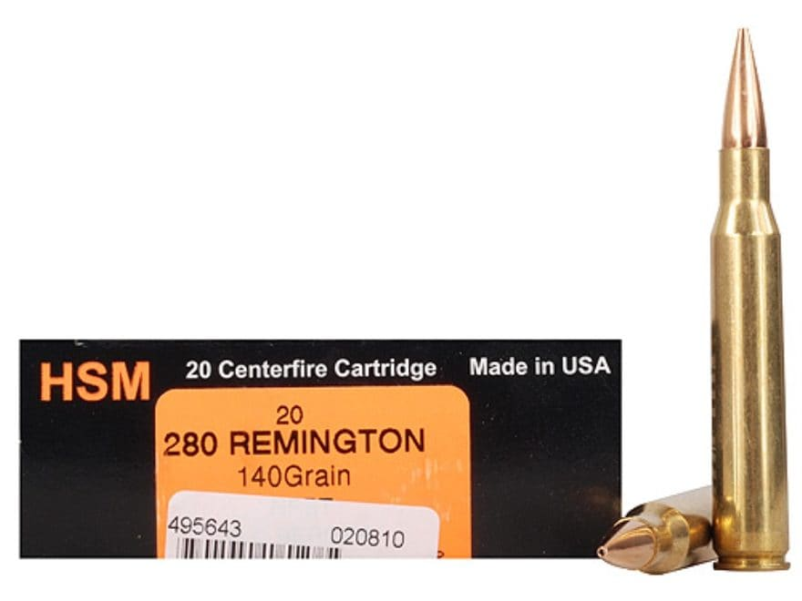 HSM Trophy Gold Ammunition 280 Remington 140 Grain Berger Hunting VLD Hollow Point Boat...