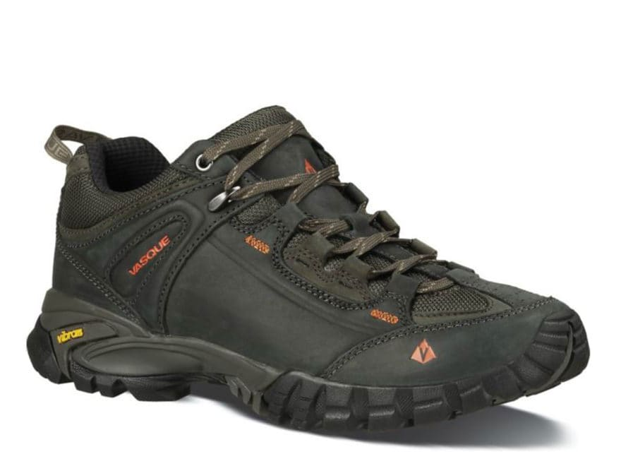 """Vasque Mantra 2.0 4"""" Hiking Shoes Leather Dark Earth and Chili Pepper Men's"""